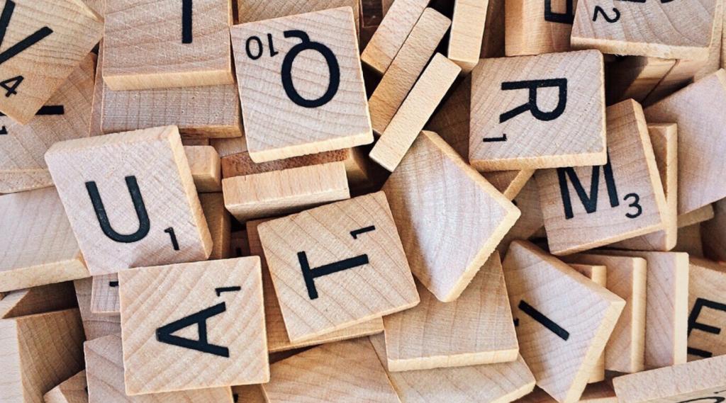 tessere con lettere dell'alfabeto